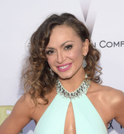 Karina Smirnoff sported wild curls at the premiere of 'Escobar: Paradise Lost.'