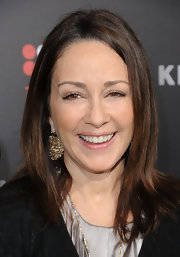 Patricia Heaton looked cool and casual in a simple straight haircut at the premiere of 'The Kennedys.'