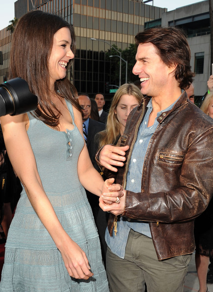 More Pics of Katie Holmes Long Straight Cut (4 of 52) - Long Hairstyles Lookbook - StyleBistro [the kennedys,yellow,event,jeans,hand,textile,party,long hair,gesture,leather,actors,tom cruise,katie holmes,beverly hills,california,reelzchannel,the reelzchannel world,premiere,premiere]