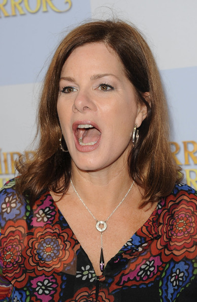 Marcia Gay Harden accessorized her outfit with a pretty silver lariat necklace.