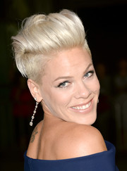 Pink sported a funky fauxhawk when she attended the 'Thanks for Sharing' premiere.