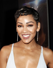 Meagan Good attended the premiere of 'A Boy. A Girl. A Dream' wearing her hair in a cute pixie.