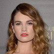 Lily James' Medium Curls