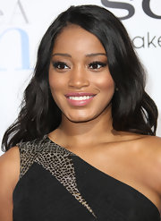 Keke Palmer wore a soft mauve lipstick at the premiere of 'Think Like a Man.'
