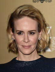 Sarah Paulson sported her signature short waves at the premiere of 'American Horror Story: Hotel.'