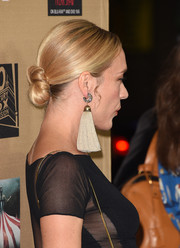 Chloe Sevigny topped off her look with a classic bun when she attended the premiere of 'American Horror Story: Hotel.'
