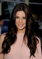 Ashley Greene walked the red carpet with long lustrous curls that were parted down the center.