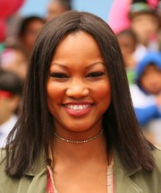 Garcelle Beauvais rocked a flat-ironed hairstyle at the premiere of 'Angry Birds.'