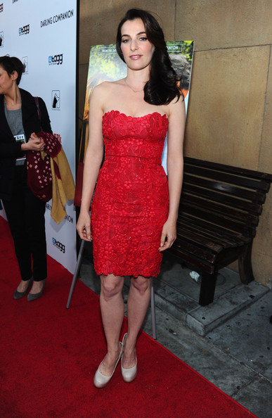 Ayelet Zurer was red hot in this embroidered mini at the premiere of 'Darling Companion.'