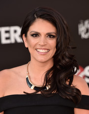 Cecily Strong got all glammed up with this curly side sweep for the premiere of 'Ghostbusters.'