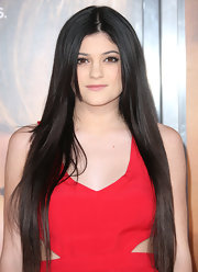 Kylie Jenner wore her impossibly long tresses sleek and straight at the premiere of 'The Vow.'