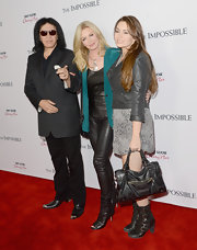 Shannon Tweed looked sexy wearing a tight leather pants for the movie premiere.