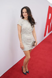 Mary-Louise Parker's silver sequin frock featured a draped back for an unexpected detail.
