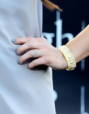 Ashley Greene completed her look with a gold bangle bracelet at the premeire of 'The Twilight Saga: Eclipse.'
