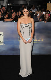 Nikki Reed looked edgy and elegant in this strapless dress at the 'Twilight' premiere in LA.