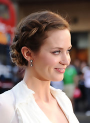 We're totally in love with Emily Blunt's French braided bun!