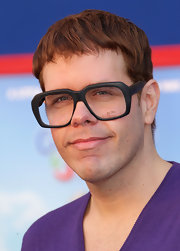 Perez Hilton went for a quirky look with this Caesar cut and a pair of large-rimmed glasses at the premiere of 'Gnomeo and Juliet.'
