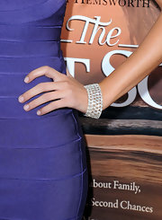 "Melissa Ordway showed off a decadent diamond bracelet at ""The Last Song"" premiere. With jewelry like this she didn't need any other accessories."