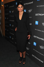 Rachel Roy wore this fitted long-sleeve black number to the Tribeca Film event.