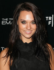 Laura James rocked a messy layered 'do and smoky eyes at the premiere of 'The Truth About Emanuel.'
