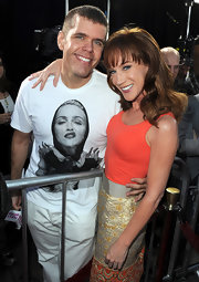 Perez Hilton once again showed his devotion with one of his many Madonna tees.
