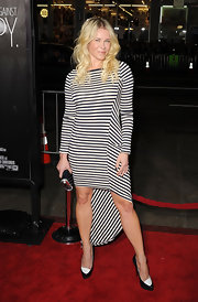 Chelsea Handler donned a striped fishtail number to the 'This Means War' premiere.