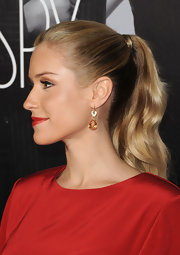 Kristin Cavallari wore her hair in a sleek wrapped ponytail at the premiere of 'This Means War.'