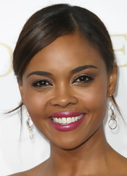 Sharon Leal attended the premiere of 'Good Deeds' wearing a pair of ice storm earrings.