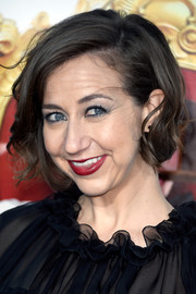 Kristen Schaal wore a short wavy 'do at the premiere of 'The Boss.'