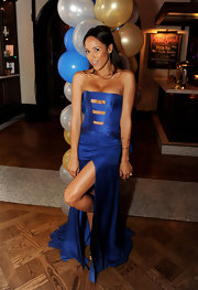 Dania Ramirez wore this risque royal blue gown to the 'American Reunion' after-party.