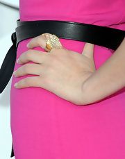 Rose accented her fuchsia dress with a large Lemon Citrine ring in sterling silver with marquise lemon citrine.