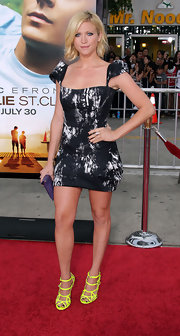 Actress Brittany Snow wore three stacked  Sterling Silver Shiny Hammered Rings while attending the premiere of 'Charlie St. Cloud'.