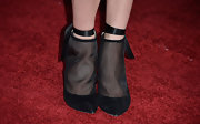 Penelope Mitchell chose a pair of black mesh ankle booties for her look at the 'Fast and Furious 6' premiere.