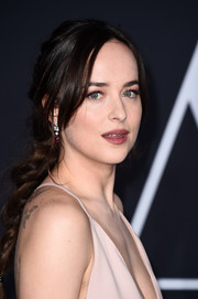 Dakota Johnson styled her hair into a romantic braid for the premiere of 'Fifty Shades Darker.'