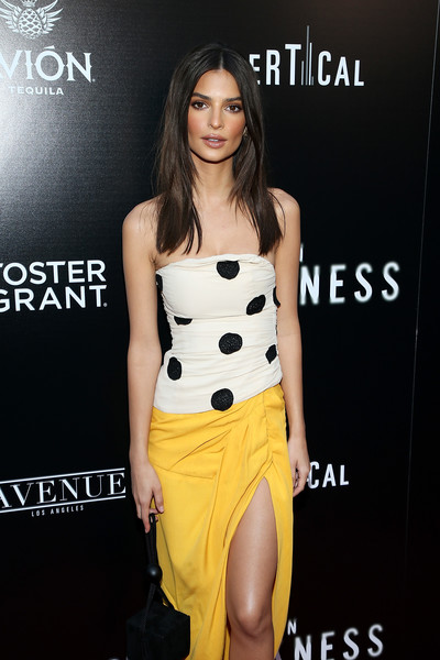 More Pics of Emily Ratajkowski Long Straight Cut (1 of 23) - Emily Ratajkowski Lookbook - StyleBistro [in darkness - arrivals,fashion model,clothing,dress,yellow,fashion,shoulder,footwear,cocktail dress,long hair,waist,emily ratajkowski,arclight hollywood,california,vertical entertainment,of vertical entertainment,premiere]