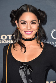 Vanessa Hudgens sported winged eyes for a bit of retro flair.