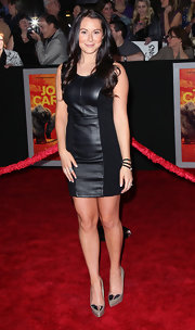 Alexa Vega wore a pair of Nikko II taupe and silver metallic platform pumps at the LA premiere of 'John Carter.'