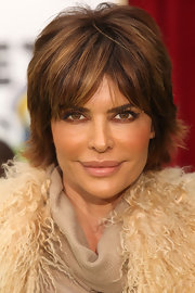 Lisa Rinna looked her usual sexy self with her slightly tousled hairstyle at the premiere of 'The Muppets.'