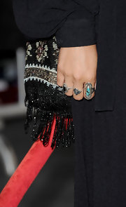 Vanessa Hudgens attended the premiere of 'Pirates of the Caribbean: On Stranger Tides' wearing a Wandering Warrior ring in sterling silver and turquoise.