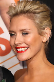 Nicky opted for a textured French twist at the premiere of 'Hall Pass.'