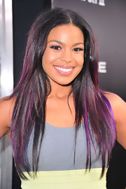 Jordin Sparks isn't afraid to experiment with a little color. The singer streaked her straight mane with shades of purple.