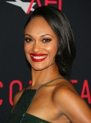 Cynthia Addai-Robinson brightened up her beauty look with some matte-red lipstick.