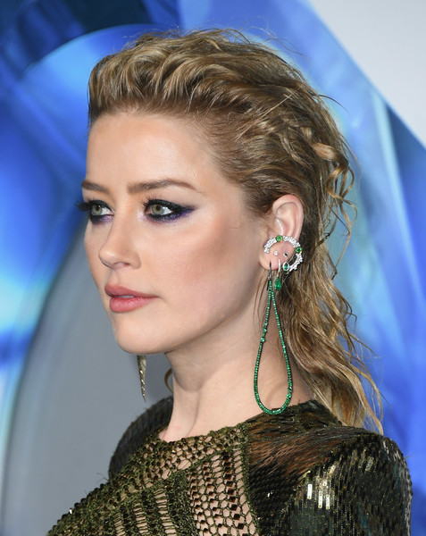 More Pics of Amber Heard Gemstone Hoops (1 of 23) - Hoop Earrings Lookbook - StyleBistro