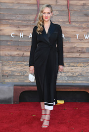 A white micro bag rounded out Jess Weixler's attire.