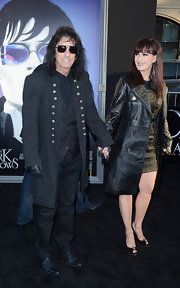 Alice Cooper could have taken the high seas opposed to the red carpet in this pirate-like military coat.
