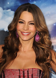 Sofia Vergara wore a satiny golden pink lipstick at the premiere of 'Happy Feet Two.'