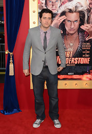 Ben Gleib kept his red carpet look more on the casual side with classic jeans.