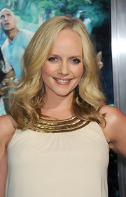 Marley Shelton wore her hair in softly tousled curls at the premiere of 'Journey 2: The Mysterious Island.'