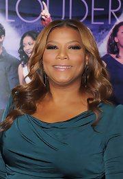 Queen Latifah wore sultry smoky shadows with false lashes and a lot of mascara at the premiere of 'Joyful Noise.'