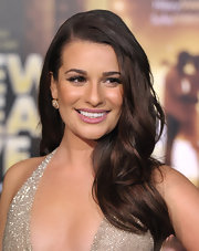 Lea Michele kept it cool with a matte mauve lipstick at the premiere of 'New Year's Eve.'